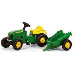 r01219 tracteur pdales john deere avec remorque
