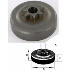 106656XW - Pignon de chaine 325 7 dents pour Husqvarna - Jonsered - Partner - Poulan
