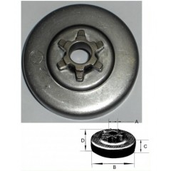 """1185506040 - Pignon de Chaine 3/8"""" LP -  6 Dents pour tronconneuse ALPINA"""