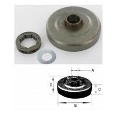 27189X - Pignon de chaine à anneau 3/8 7 Dents pour DOLMAR