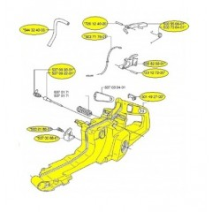 537000371 - Réservoir essence complet pour tronconneuse HUSQVARNA