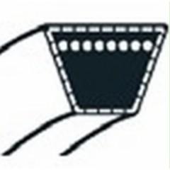 754-0370 - Courroie moteur/variateur ou variateur/boite pour autoportée MTD (15.8x1195mm)
