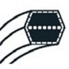754-0443A - Courroie de coupe pour tondeuse autoportée MTD coupe 102cm (12.7mm x 2291mm)