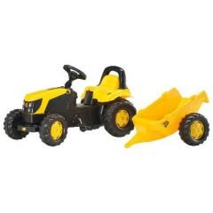 R01261 - Tracteur à pédales et remorque JCB
