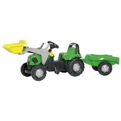 R02319 - Tracteur chargeur frontal à pédales et remorque DEUTZ