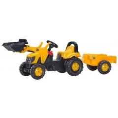R02383 - Tracteur chargeur frontal à pédales et remorque JCB