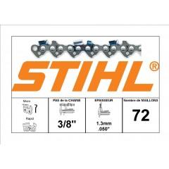 """36500030072 - Chaîne de tronçonneuse STIHL 3/8"""" - 1.3mm - 72 Entraineurs"""