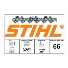 """36330030066 - Chaîne de tronçonneuse STIHL 325"""" - 1.5mm - 66 Entraineurs"""