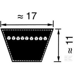 B50 - Courroie B50  (17x1275mm Li)