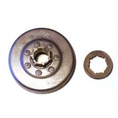 """OL556LCA7X - Pignon de chaine à Anneau 3/8"""" 7 dents pour tronconneuse OLEO MAC"""