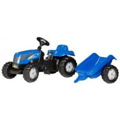 R01307 - Tracteur à pédales et remorque NEW HOLLAND T7040