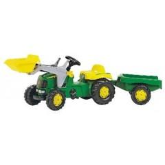 R02311 - Tracteur chargeur frontal à pédales et remorque JOHN DEERE