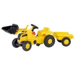 R02328  - Tracteur chargeur frontal à pédales et remorque CATERPILLAR