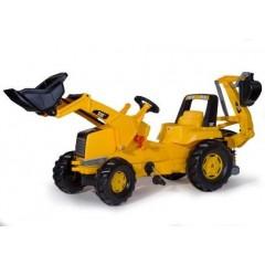 R81300 - Tracteur chargeur frontal et pelle arrière à pédales CATERPILLAR