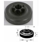 106658XW - Pignon de chaine 325 7 dents pour tronconneuse Husqvarna - Partner - Jonsered ...