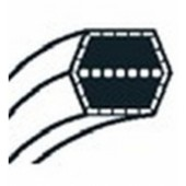 1350657000 - Courroie de coupe pour autoportée GGP / CASTELGARDEN / STIGA