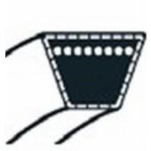 1134-9078-01 - Courroie Moteur / Poulie Centrale pour tondeuse autoportée STIGA