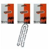 43RG52X3 - Lot de 3 chaine de tronconneuse WINDSOR 3/8 Picco 1.1mm 52 Entraineurs (ARTICLE REMPLACE VOIR DETAIL)