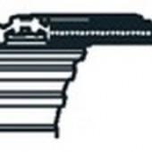 200DS8M2600 - Courroie crantée double face (20x2600mm) pour tondeuse autoportée John Deere
