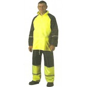 1814297 - Ensemble de pluie Haute-Visibilité jaune veste + pantalon / TAILLE XXL