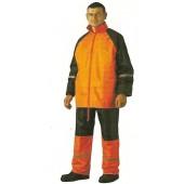 1814305 - Ensemble de pluie Haute-Visibilité orange veste + pantalon / TAILLE XXXL