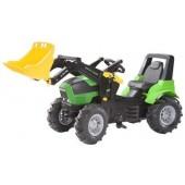 R71013 - Tracteur à pédales DEUTZ AGROTROM X720 avec chargeur frontal et pneus souples