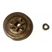 """SO351A7N - Pignon de chaine 3/8"""" 7 dents pour tronconneuse SOLO - HOMELITE"""