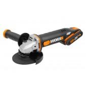 WX803 - Meuleuse d'Angle WORX - 2 Batteries + Chargeur INCLUS